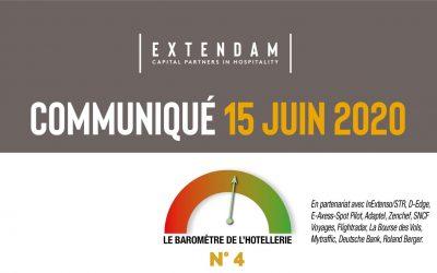 Covid-19 : quel impact sur le secteur de l'hôtellerie en France et en Europe ? EXTENDAM partage les nouveaux résultats de son indicateur de suivi de I'hôtellerie d'affaires